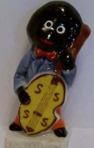 Wade 1960s China Figurine - The Double Bass Player  - SOLD